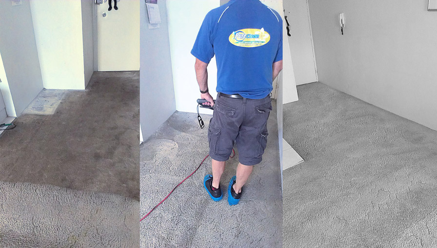 Carpet cleaning stages